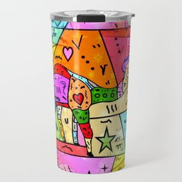 Camel Popart by Nico Bielow Travel Mug