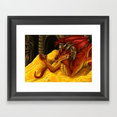 Smaug the Magnificent Framed Art Print
