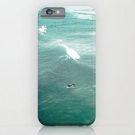California Surf // Coastal Spring Waves Teal Blue and Green Ocean Huntington Beach Views iPhone Case