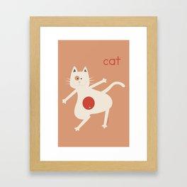 C for Cat Framed Art Print