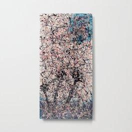THREE BLUE ROSES - Jackson Pollock style art Metal Print