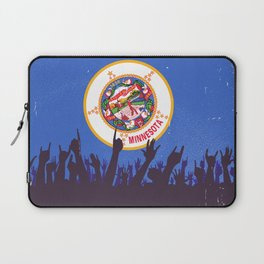 Minnesota State Flag with Audience Laptop Sleeve