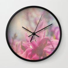 Her Heart Bloomed with Love in the Spring Wall Clock
