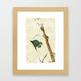 Contrabassist. Jazz Club Poster Framed Art Print