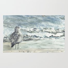 Seagull, Watercolour Rug