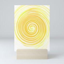 Ripple_Circle_Orange_Sun_Positive Mini Art Print