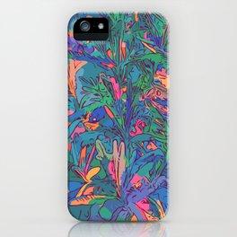 Neon color lavenders iPhone Case