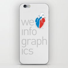 We Love Infographics iPhone Skin
