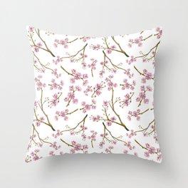 Sakura Cherry Blossoms Throw Pillow