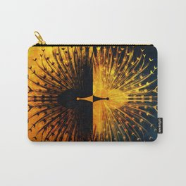 Peacock - Mad Men inspired Carry-All Pouch
