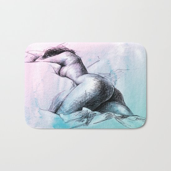 Nude female 3 Bath Mat