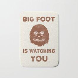 Big Foot Is Watching You Bath Mat