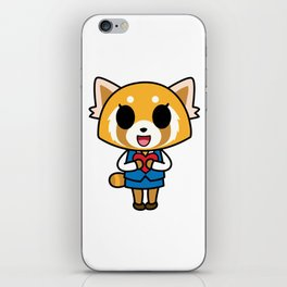Aggretsuko Loves You! iPhone Skin