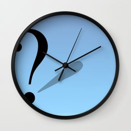 Question Mark Flag Wall Clock
