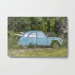 Lost car in France - Parked for eternity II Metal Print