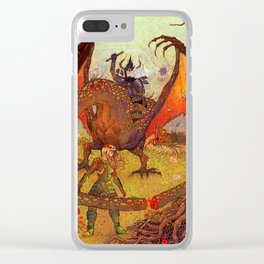 Dragon Slayer Clear iPhone Case