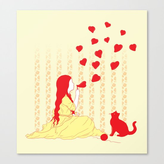 Bubbly Hearts Canvas Print