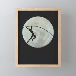 Moon Pole Vaulter Framed Mini Art Print