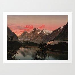 """Kongen Dronningen og Bispen Norway"" Art Print"