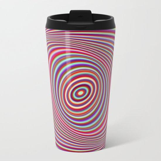 Neon hypnosis Metal Travel Mug