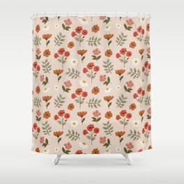 Among the Wildflowers Pattern Shower Curtain