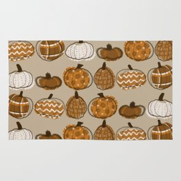 Pumpkin Party in Almond Rug