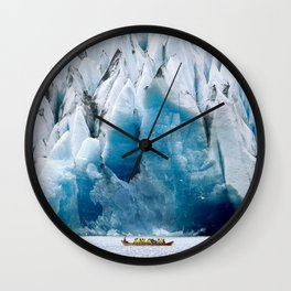 Ride to the Alaskan Glacier Wall Clock