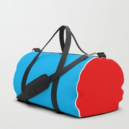TEAM COLORS 10...RED , WHITE LIGHT BLUE Duffle Bag