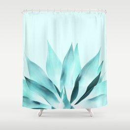 Aqua Solar Agave Shower Curtain