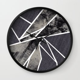 black and white flower Wall Clock