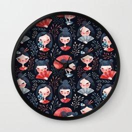 Japanese girls Wall Clock