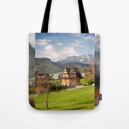 village in Tatra Country Tote Bag