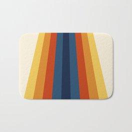 Bright 70's Retro Stripes Bath Mat