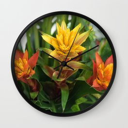 Hawaiian Wild Flowers Wall Clock