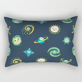 Pastel space pattern - dark Rectangular Pillow