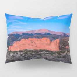 Pikes Peak - Sunrise Over Garden of the Gods in Colorado Springs Pillow Sham