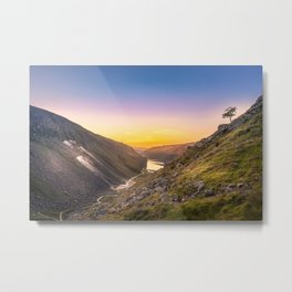 Sunrise at Glendalough valley Ireland Metal Print