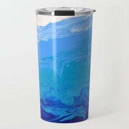 High Tide Blue Turquoise Water Fluid Abstract Travel Mug