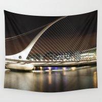 dublin Wall Tapestries featuring Samuel Beckett Bridge, Dublin by Ciaran Mcg