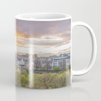 edinburgh Mugs featuring EDINBURGH by Marte Stromme