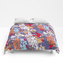 Smaller Space Toons in Color Comforters