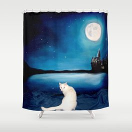 Tyche magical kitty Shower Curtain