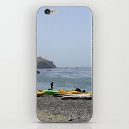 Canoes At Bodega Bay iPhone Skin
