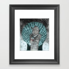 Smells like fish Framed Art Print