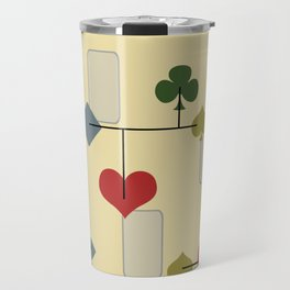 Atomic Era Card Suite Art Travel Mug