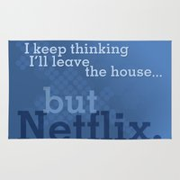 netflix Area & Throw Rugs featuring But Netflix by Matthew Hall