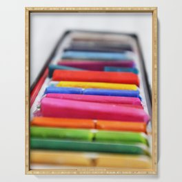 Colored Chalk Serving Tray