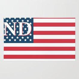 North Dakota American Flag Rug