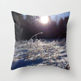 Winters frosty glow Throw Pillow