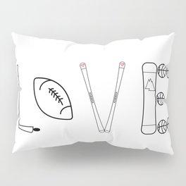 Love Sports Pillow Sham